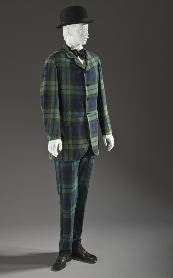 Plaid wool suit, 1885. Source: LA County Museum of Art.