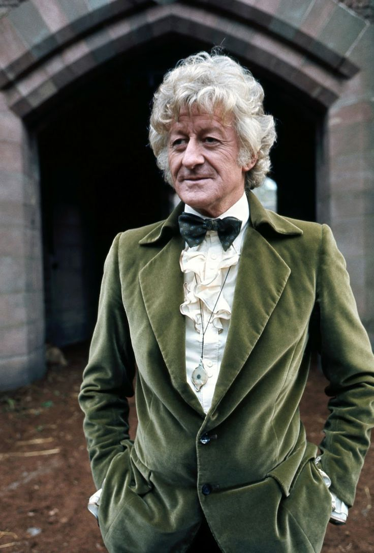 The 3rd Doctor in one of his fabulous velvet jackets. Source: BBC