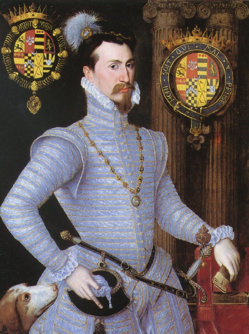 Robert Dudley, killing it in some snappy duds. 1566-ish.