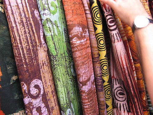 Selection of batik fabrics. Source: Flickr CC