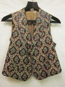 Silk brocade waistcoat, 1880. Source: V&A