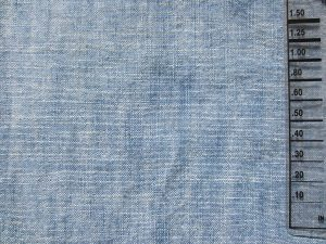 Cotton chambray. The ruler is in centimeters