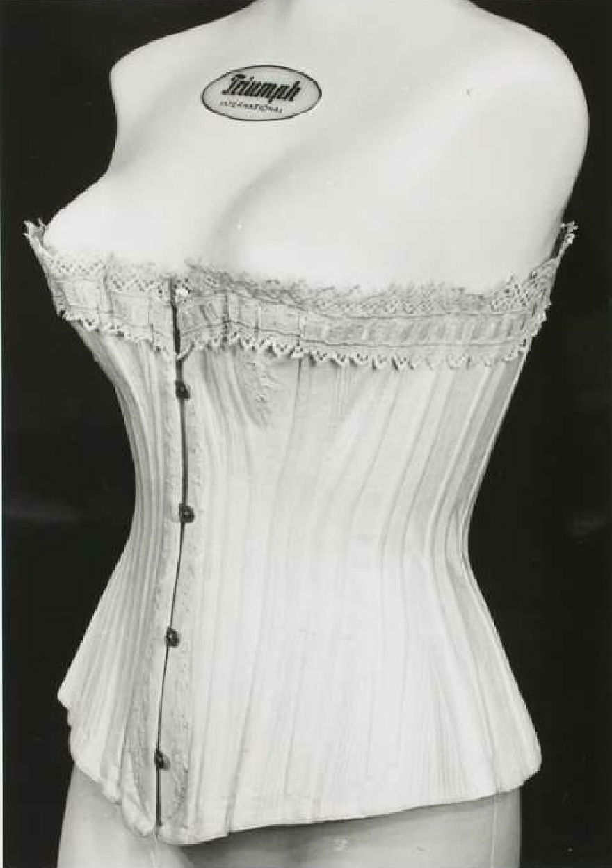 Mid or late 19th century corset. Source: Wikimedia Commons.