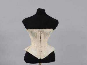 Coutil corset, ca 1870. Source: Wikimedia Commons.
