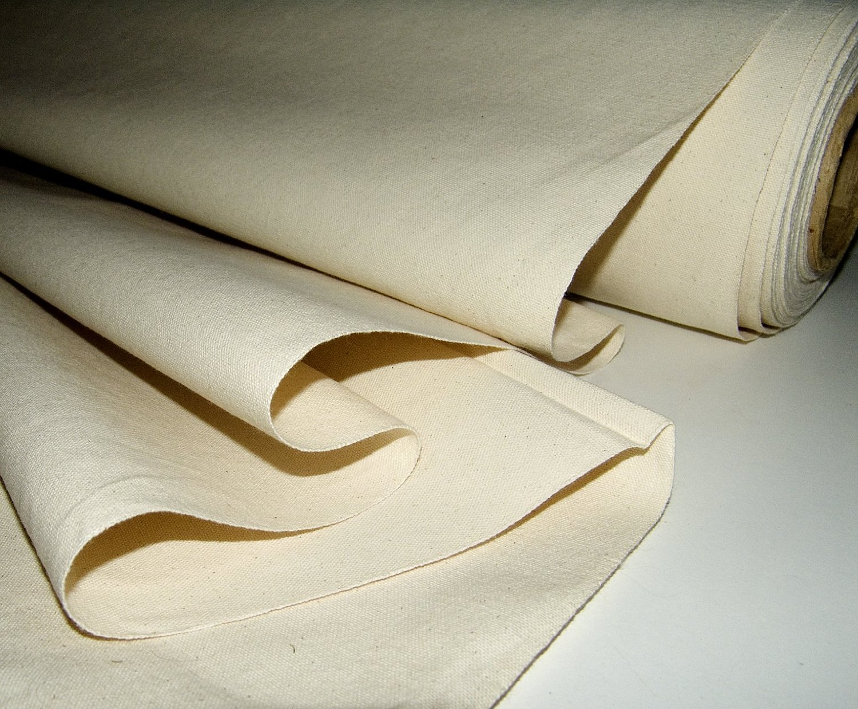 Cotton duck fabric.
