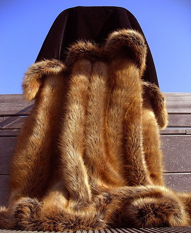 Fake fur, made to resemble that of a red fox. Source: Wikimedia Commons.
