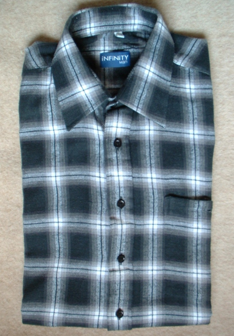 A flannel shirt. Source: Wikimedia Commons