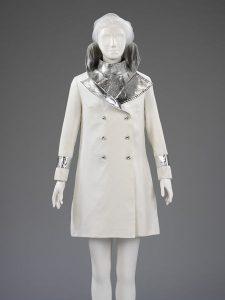 Gabardine and lamé coat by John Bates, 1966. Source V&A