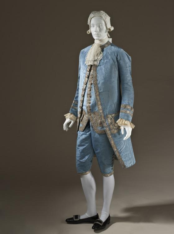Moire suit, 1760. Source: LA County Museum of Art.