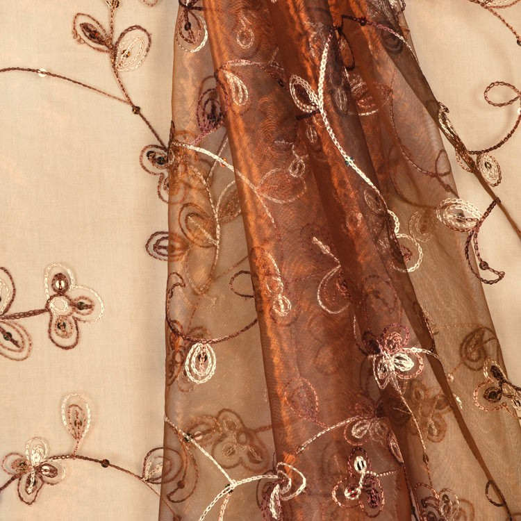 Embroidered organza. Source: onlinefabricstore.net