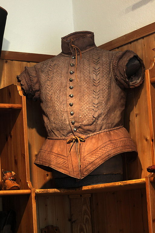 Modern repro of a Renaissance-era leather doublet. Source: Wikimedia Commons.