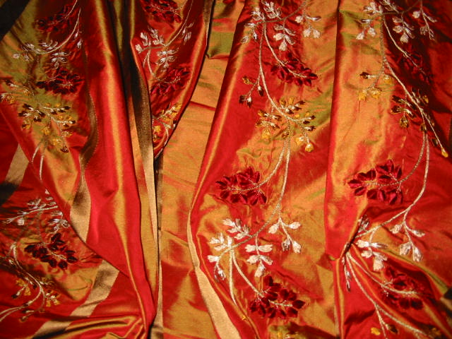 Embroidered, two-tone taffeta. Source: hyenaproductions.com