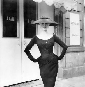 Stella Tenbrook in a wool jersey dress.